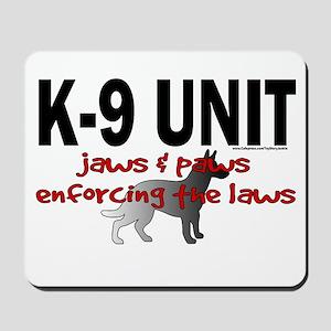 K9 UNIT: Jaws & Paws Mousepad