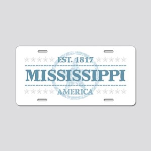 Mississippi Aluminum License Plate