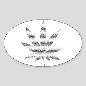 Pot Leaf Oval Sticker