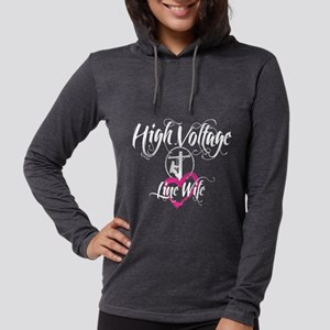 high voltage line wife black shirt Long Sleeve T-S