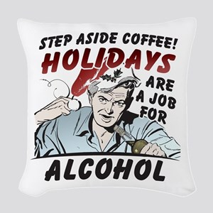 Step Aside Coffee Woven Throw Pillow