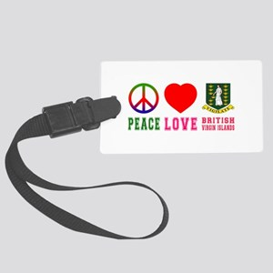 Peace Love British Virgin Islands Large Luggage Ta
