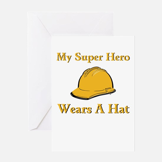 My Super Hero Construction Worker Greeting Cards