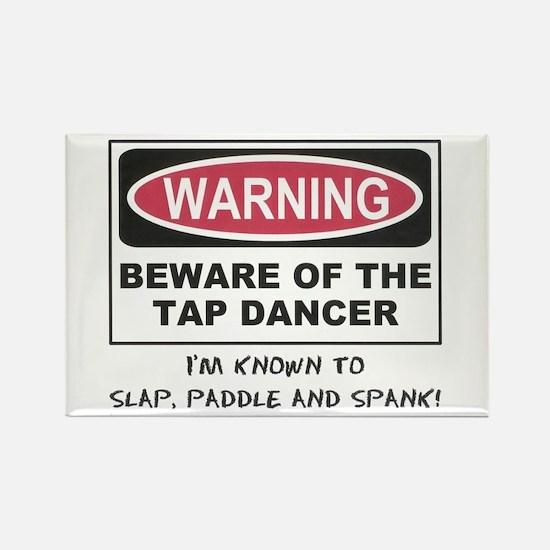 Beware of Tap Dancer Rectangle Magnet (10 pack)