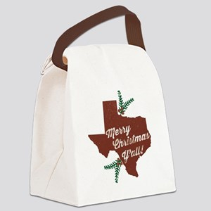 Merry Christmas Y'all! Canvas Lunch Bag