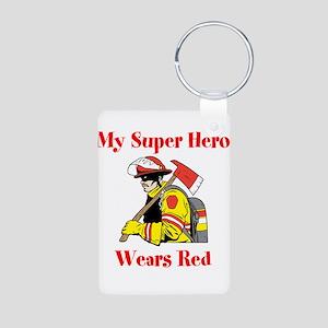 My Super Hero Wears Red Keychains