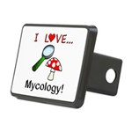 I Love Mycology Rectangular Hitch Cover