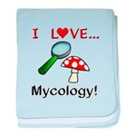 I Love Mycology baby blanket