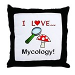I Love Mycology Throw Pillow