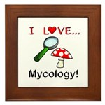 I Love Mycology Framed Tile