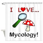 I Love Mycology Shower Curtain