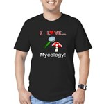I Love Mycology Men's Fitted T-Shirt (dark)