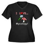 I Love Mycology Women's Plus Size V-Neck Dark T-Sh
