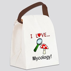 I Love Mycology Canvas Lunch Bag
