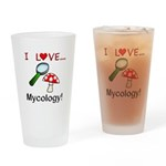 I Love Mycology Drinking Glass