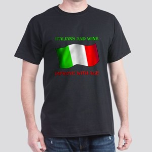 Italians And Wine Improve Wi Dark T-Shirt