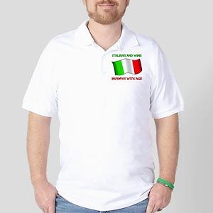 Italians And Wine Improve Wi Golf Shirt