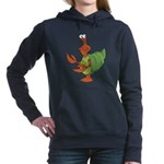 silly happy hermit crab.png Hooded Sweatshirt