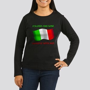 Italians And Wine Improve Wi Women's Long Sleeve D