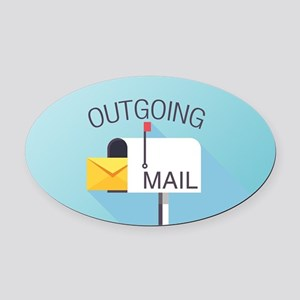 Outgoing Mail Oval Car Magnet
