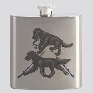 Flat Coated Retrievers Agility Flask