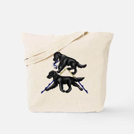 Flat Coated Retrievers Agility Tote Bag