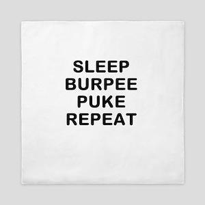 SLEEP BURPEE PUKE REPEAT Queen Duvet
