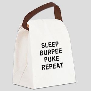 SLEEP BURPEE PUKE REPEAT Canvas Lunch Bag