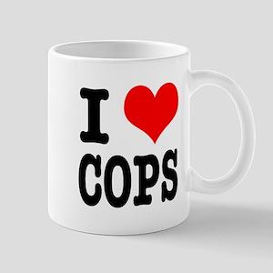 I Heart (Love) Cops Mug
