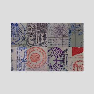 Collage: Camino de Santiago (the  Rectangle Magnet