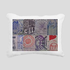 Collage: Camino de Santi Rectangular Canvas Pillow