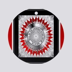 Cherokee Nations Ornament (Round)