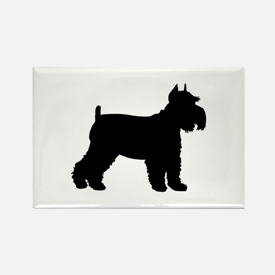 Schnauzer Silhouette Rectangle Magnet