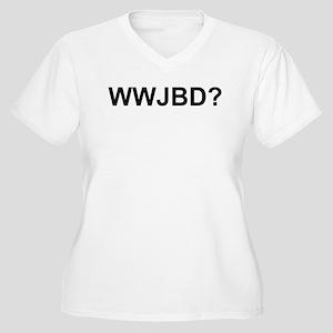 WWJBD Women's Plus Size V-Neck T-Shirt