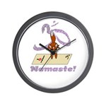 Namaste Fox Yoga Handstand Wall Clock