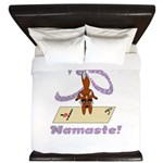 Namaste Fox Yoga Handstand King Duvet