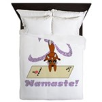 Namaste Fox Yoga Handstand Queen Duvet