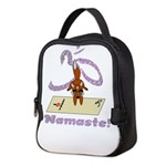 Namaste Fox Yoga Handstand Neoprene Lunch Bag