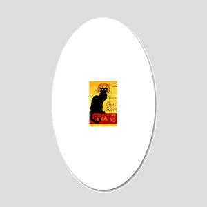 Vintage Tournée du Chat Noir 20x12 Oval Wall Decal