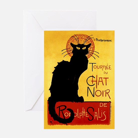 Vintage Tournée du Chat Noir, Theoph Greeting Card