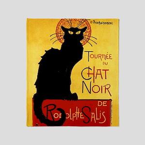 Vintage Tournée du Chat Noir, Theoph Throw Blanket