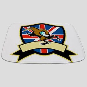 Rugby Kiwi Bird Britain Bathmat