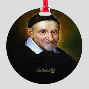 Saint Vincent de Paul Round Ornament