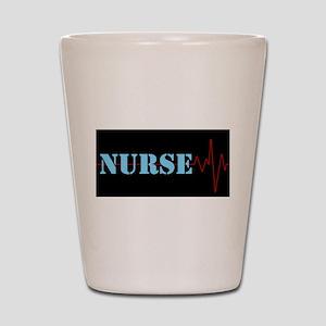 Nurse Heart Beat Shot Glass