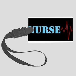 Nurse Heart Beat Luggage Tag