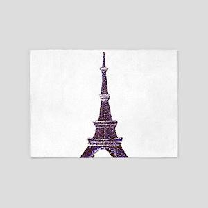 Eiffel Tower Pointillism dots 5'x7'Area Rug