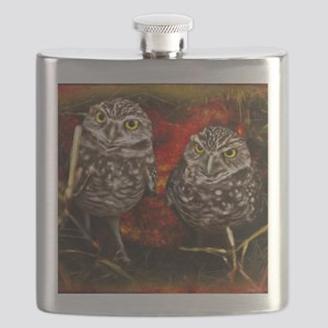 The Burrowing Owls Flask