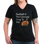 Gateway Drugs Women's V-Neck Dark T-Shirt