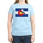 A Snowboarder in a Colorado Women's Light T-Shirt