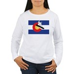 A Snowboarder in a Col Women's Long Sleeve T-Shirt